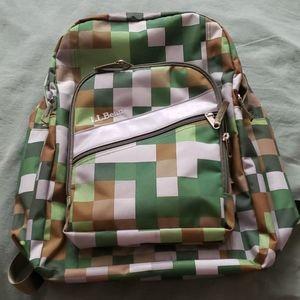 LL Bean color block backpack